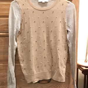 Embroidered Light Sweater